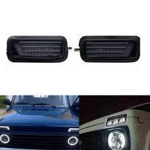 2Pcs Led Daytime Running Light for Lada Niva 4X4 1995  with DRL Turn Signal Light Car Headlight(China)
