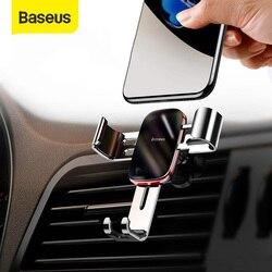 Soporte universal de teléfono para coche Baseus para iPhone 11 Pro Samsung Huawei soporte de montaje en rejilla de ventilación Metal Gravity soporte para teléfono móvil