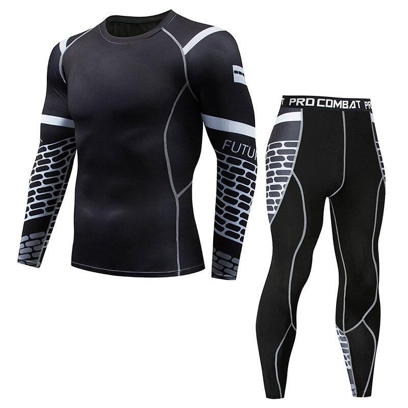 Thermal Underwear Men's Suits Quick Moisturizing Underwear Compressed Sportswear Men's Underwear Suits Breathable Warm Suit