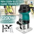 220В 2200 Вт деревообрабатывающий электрический триммер для фрезерования древесины гравировальный долбежный станок для обрезки ручной резьб...