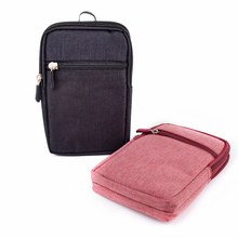 Casual Phone Waist Bag Men Travel Passport Card Wallet Organize Belt Bag Outdoor With Locking Hook Fanny Pack