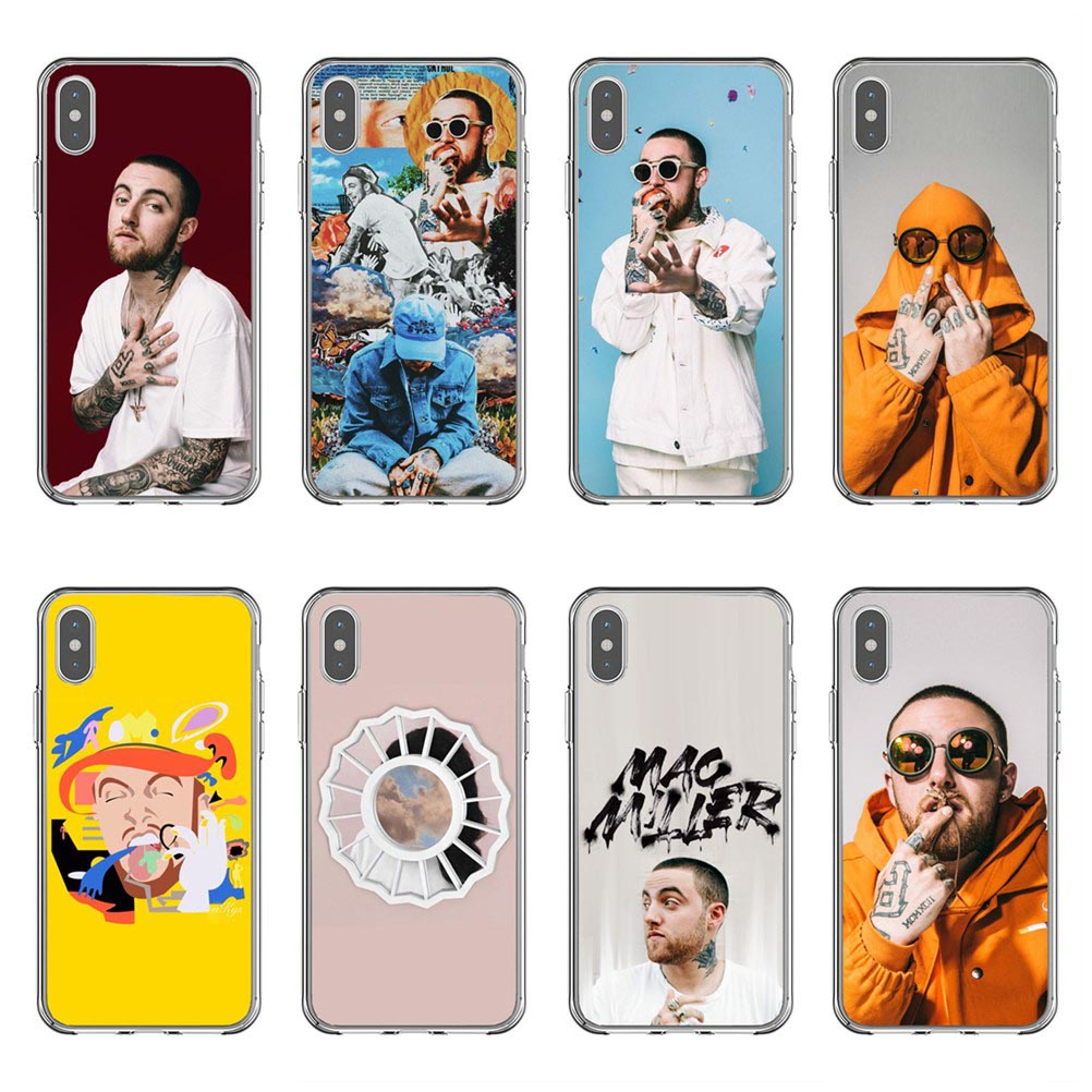 Macs Miller Case silicone Soft Phone Case For iPhone X10 Rapper Case Back Covers For iPhone 5 5s SE 6 6SPlus 7 8 Plus XR XS MAX