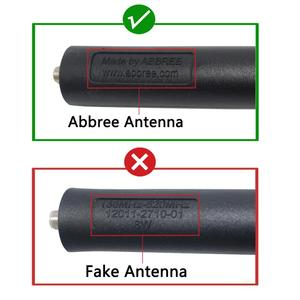 Image 3 - Abxie antena táctica VHF UHF para Baofeng AR 152 Plus, UV 9R, impermeable, UV XR, Walkie Talkie bidireccional, BF 9700