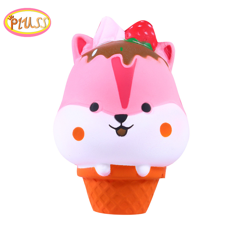Kawaii Squishy Hamster Ice Cream Cat Squezze Toys Squishi Slow Rising Antistress Cream Scented Wholesale Exquisite Kids Gifts