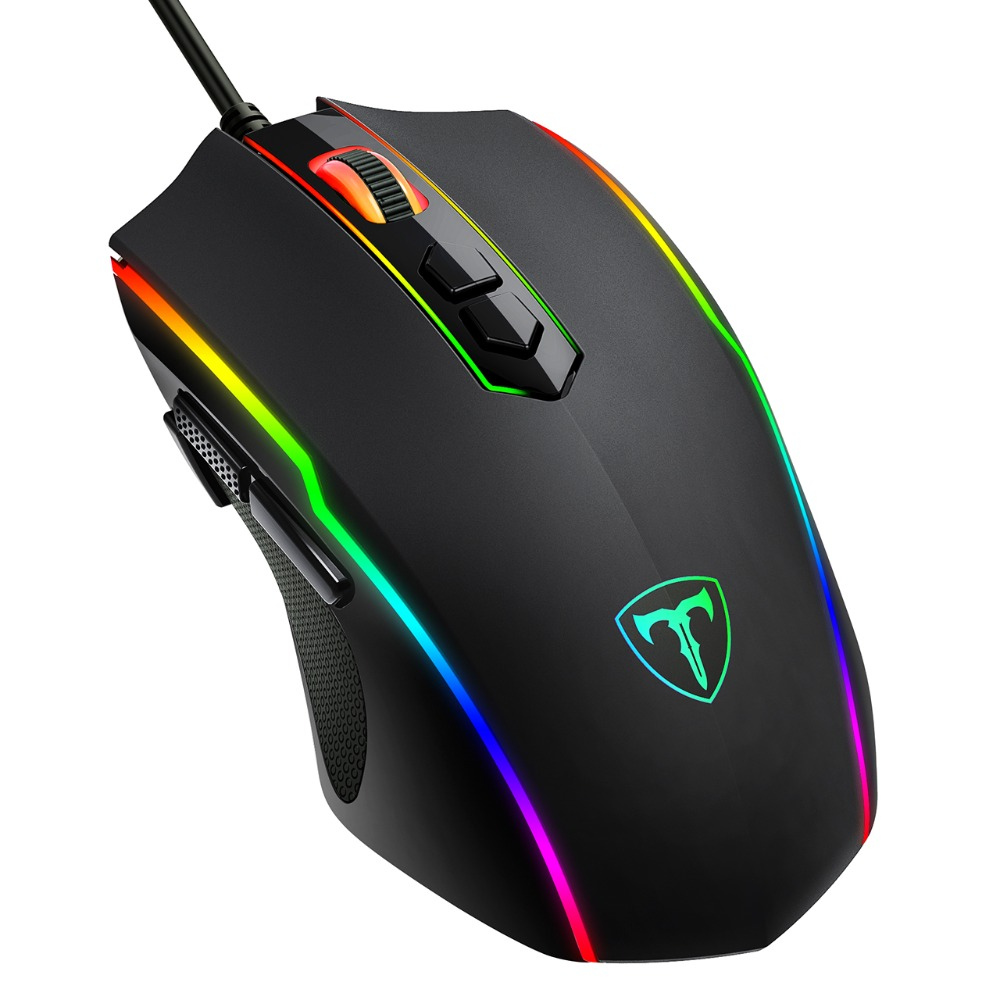VicTsing PC205 Wired Gaming Mouse 8 Programmable Button 7200 DPI USB Computer Mouse Gamer Mice With RGB Backlight For PC Laptop (7)