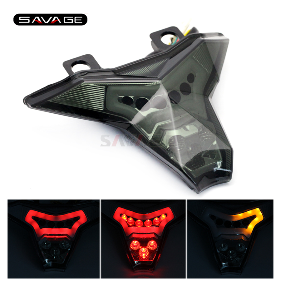 LED Tail Light For KAWASAKI Z1000 ZX-10R ZX-10RR ZX-6R Z400 NINJA 400 Motorcycle Accessories Brake Blinker Lamp Taillight