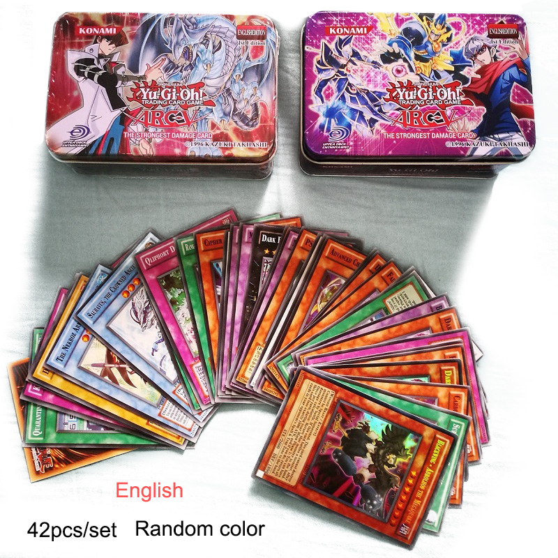 Yu Gi Oh English Game Cards Kids Play Carton Japan Yugioh Card For Collection 42pcs