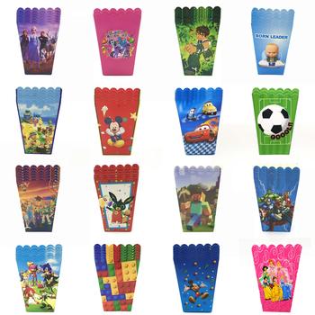 Hurtownie Mickey Minnie myszy zabawki samochód jednorożec pudełko na Popcorn dzieci materiały urodzinowe papierowe pudełko na Popcorn Baby Shower pudełko na przyjęcie tanie i dobre opinie Disney CN (pochodzenie) 6pcs pack papier kraft Zwierzę rysunkowe Chłopiec i Dziewczynka Zwierząt kreskówkowy samochód