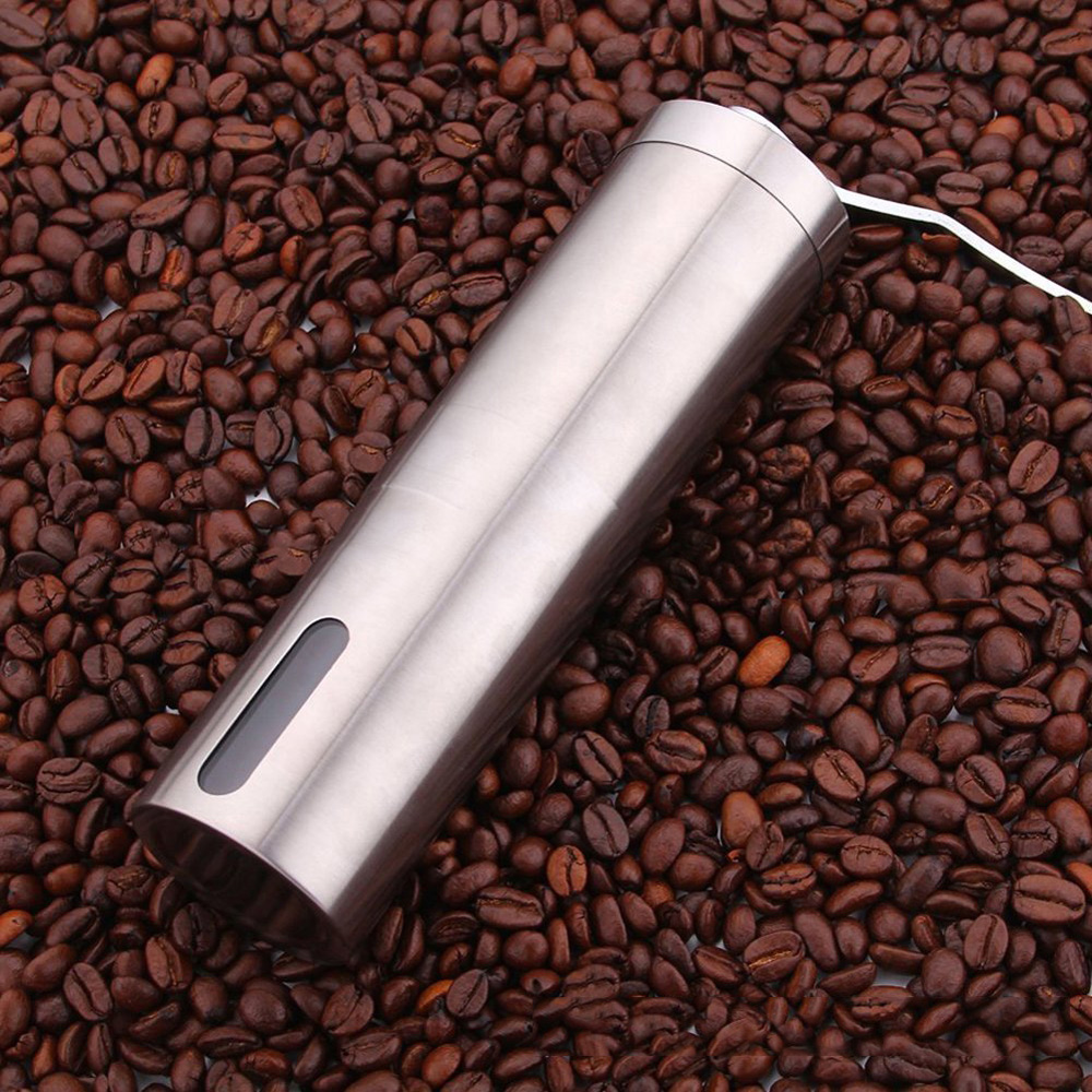 Hand Shake Coffee Bean Grinder Manual Stainless Steel 4.8*19cm Black/white Pepper Wear Resistance New Arrivals