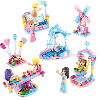 Amusement Park Building Blocks seesaw swing Model Bricks Compatible City Friendsed Series Bricks Toys For Kids gift bela architecture london skyline collection gift building blocks sets city bricks classic model kids toys compatible legoe