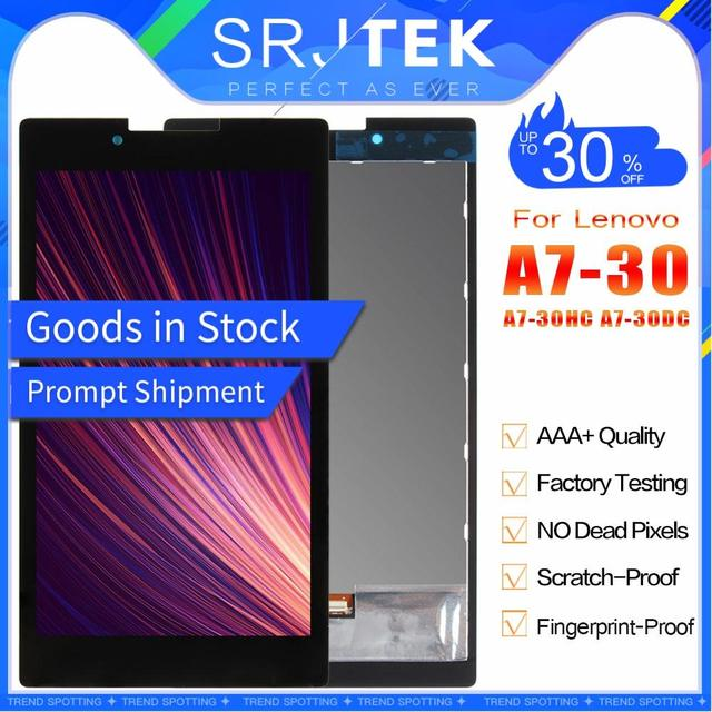 """SRJTEK 7"""" For Lenovo Tab 2 A7-30HC A7-30 A7-30DC LCD Display Screen Digitizer Touch Panel Glass Assembly Tablet PC Replacement"""