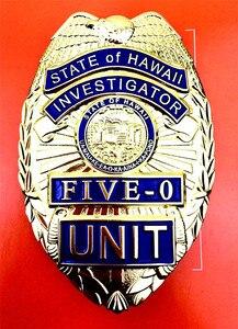 Image 4 - Значок на пояс для косплея США Гаваи пять 0, кожаный аксессуар для Гавайских игр, Реплика фильмов, реквизит на Хэллоуин
