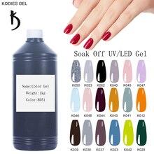 KODIES GEL Professional UV Gel Nail Polish Bulk Sale 1000g Gelcolor Semi Permanent Manicure Gellak Wholesale Factory Supply Gels