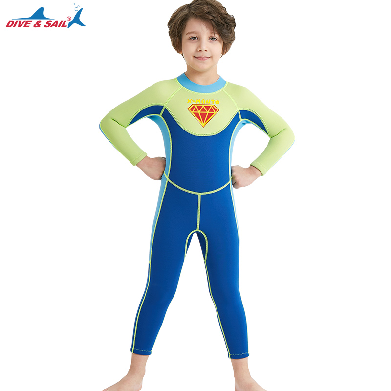 Terno de Natação para Meninos Menino Neoprene Superman Wetsuit Kepp Quente Caça Submarina Mergulho Terno Crianças Surf Molhado X-man 2.5mm