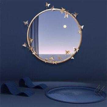 New Modern Resin Embossed Butterfly Mirror  1