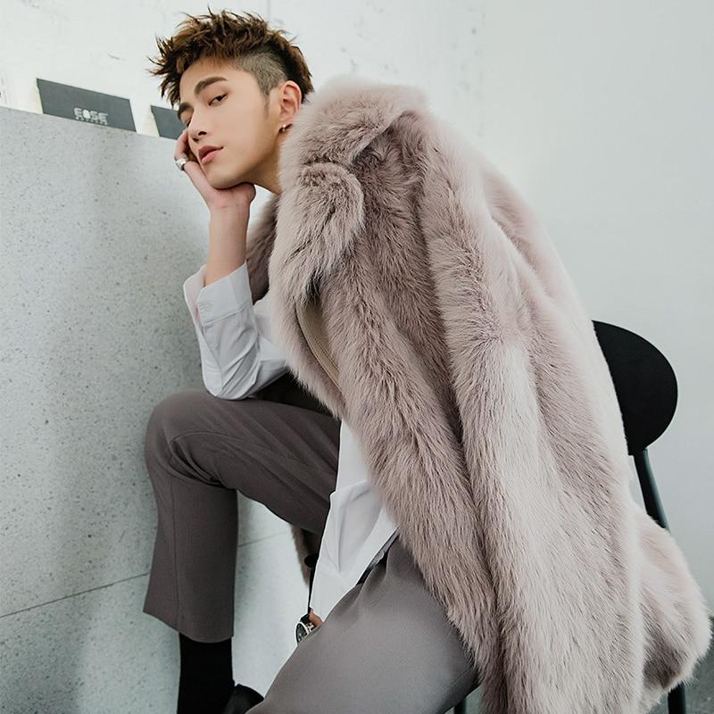 2020 Winter Real Fur Coat Men Long Shearling Jacket Man Natural Wool Fur Jackets Warm Luxury Coat Men Clothes 19132 KJ3326