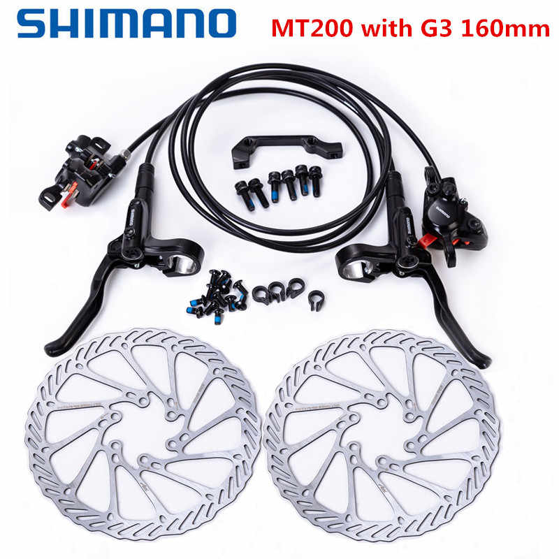 Shimano BR-BL-M365 Hydraulic Disc Bike Brake Set Front and Rear with RT56 Rotors
