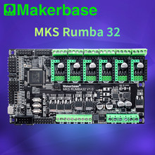 Makerbase mks rumba32 180mhz 32-bit, placa de controle de impressora 3d, 6 portas do motorista, suporte para marlin 2.0 mks tft tmc2209 tmc2208