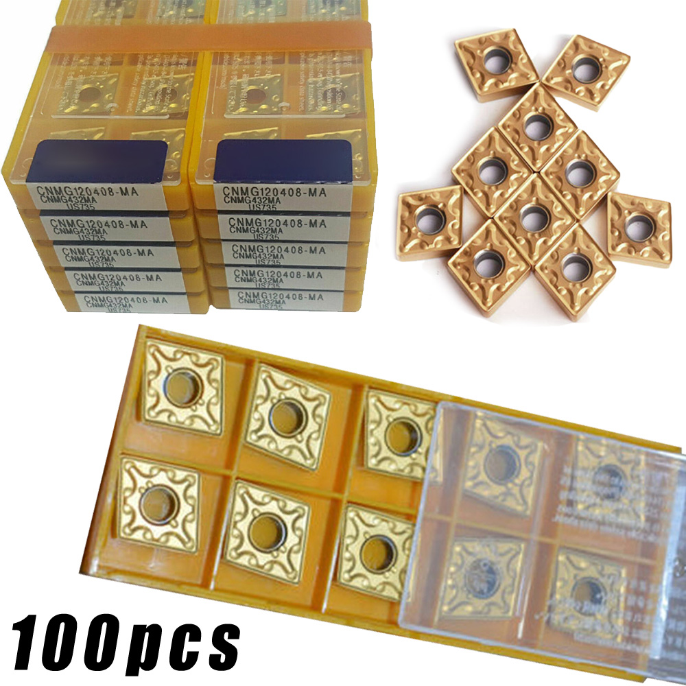 100pcs CNMG120408-MA US735 CNMG432 MA US735 CARBIDE INSERTS For steel parts,
