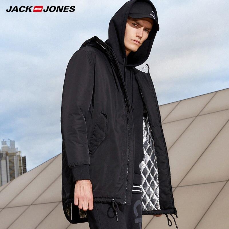 Jack Jones Men Winter  Waterproof Hooded Cotton Coat Jacket | 218309512