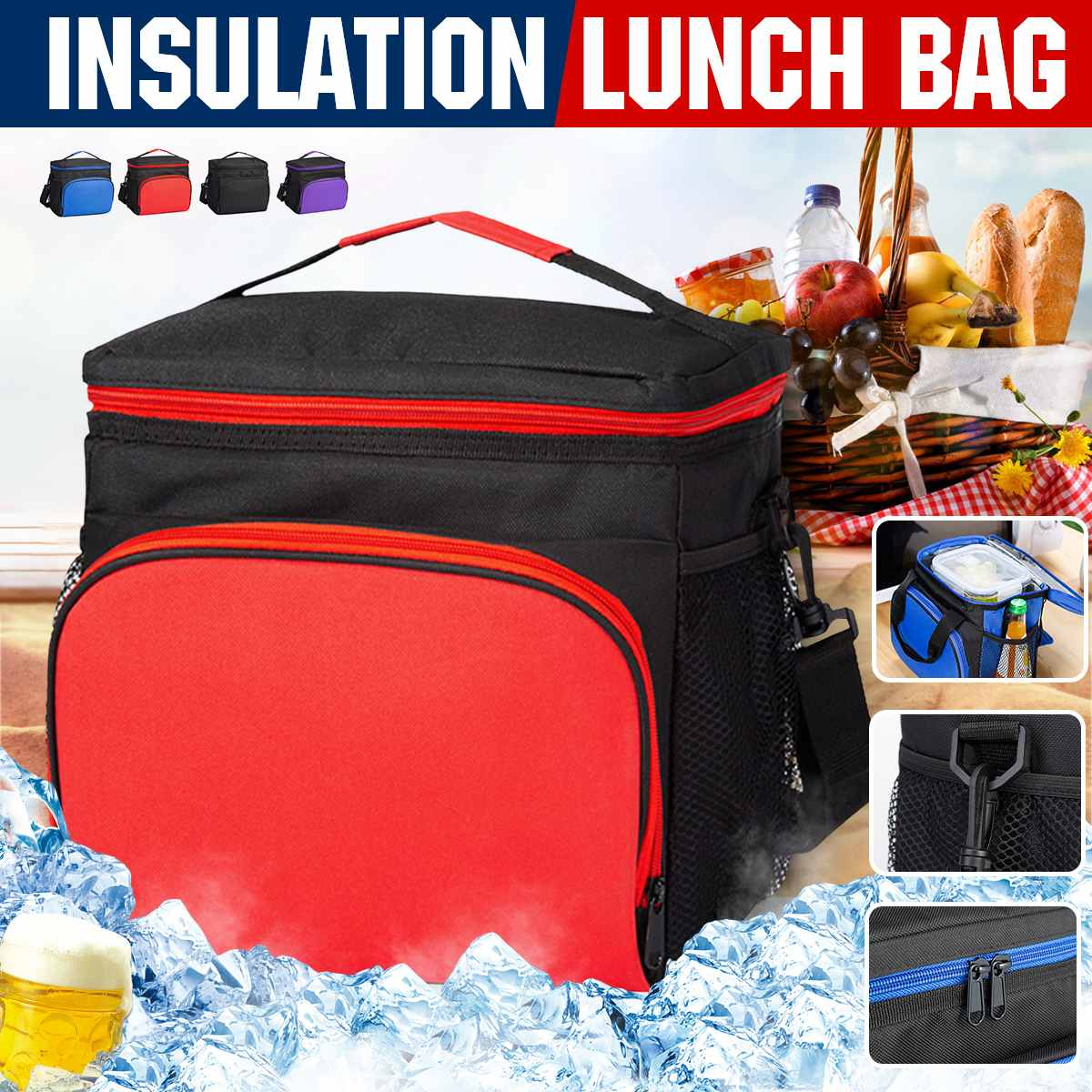 Insulated Lunch Bag Cold Storage Bags