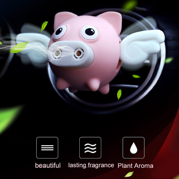 Cute Car Air Perfume Flying Pig Aroma Diffuser Air Freshener Auto Interior Scent Aromatherapy Decor Car Accessory Piggy Ornament 3