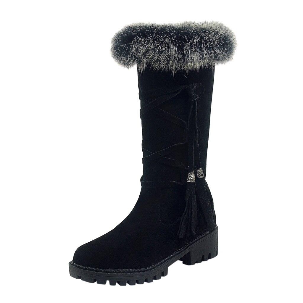 Suede Plus velvet Winter Boots Women Knee High Long Boots Fashion short plush Snow Boots Women Winter Warm Platform woman shoes 52