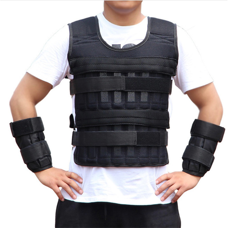 15kg Running Exercise Empty Weight Vest Boxing Training Adjustable Shank Wrist Wraps Crossfit Swat Loading Weight Vest