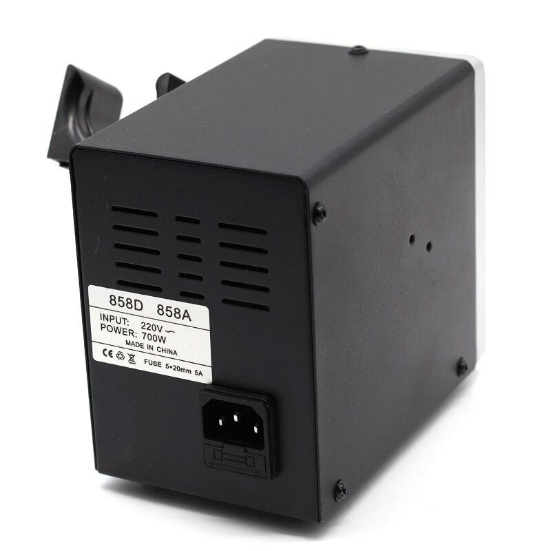 Image 5 - Soldering Station Digital Hot Air Heat Gun BGA SMD Rework 858D+ 60W Temperature Adjustable Electric Soldering Iron Welding ToolsSoldering Stations   - AliExpress