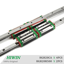 цена на HIWIN HGR20CA 500mm HG20 Linear Guide Rail Narrow Type Blocks Carriage Linear Guideways CNC parts with High Quality Machine