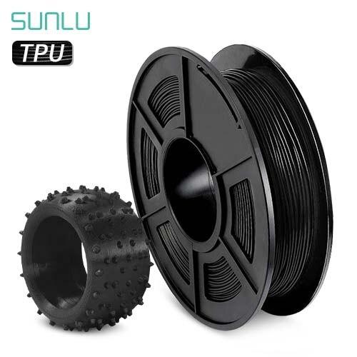 SUNLU ТПУ нити 3D Принтер Нити гибкий черный 1,75 мм 0,5 кг (1.1LB) точность размеров +/-0,02 мм ТПУ материал корпуса