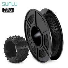 Sunlu tpu filamento da impressora 3d preto flexível 1.75mm 0.5kg (1.1lb) precisão dimensional +/- 0.02mm tpu material da caixa