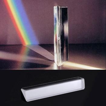 Trójkątny kolor pryzmat K9 szkło optyczne kątowy odbijający trójkątny pryzmat do nauczania spektrum światła M13 dropship tanie i dobre opinie OOTDTY as the picture shows 14*14*80mm 0 55*0 55*3 15 Other Prisms K9 Optical Glass