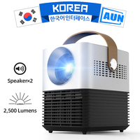 AUN New LCD Mini Projector L7, 2500 Brightness, 30,000 Hours LED Lifetime, Protable 3D Projector for Home Theater, Support 1080p