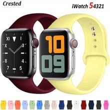 Silikon band Für Apple Uhr strap 44mm 40mm 42mm 38mm 42mm smartwatch armband Sport armband iWatch serie 3 4 5 6 se strap