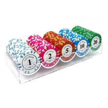 100PCS Poker Chips Clay/Ceramic Sets Texas Holdem EPT Pokerstars Denomination can match Set with Box