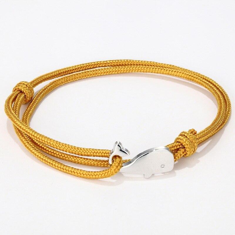Простой милый Морской браслет с Китом Бохо ручной работы веревка Паракорд Braclet для мужчин и женщин Веревка викинга ювелирные изделия Bileklik