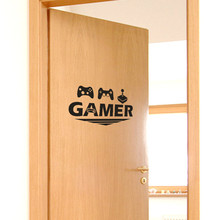 1pc Gamer Home Decor Wall Sticker Decal Bedroom Vinyl Art Mural Wall Sticker decoration home decor self-adhesive wall decor #Y10 cheap CN(Origin) Pastoral Characters