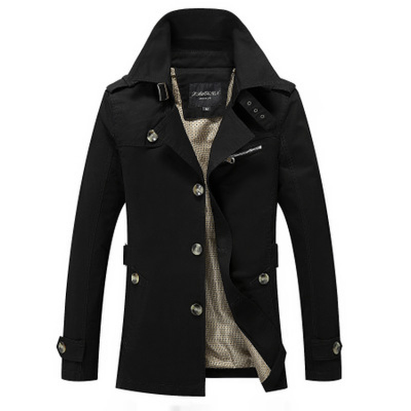 Veste Coat Jacket Male Long-Section Outerwear Fashion Casual Fit Brand Jaqueta Homme