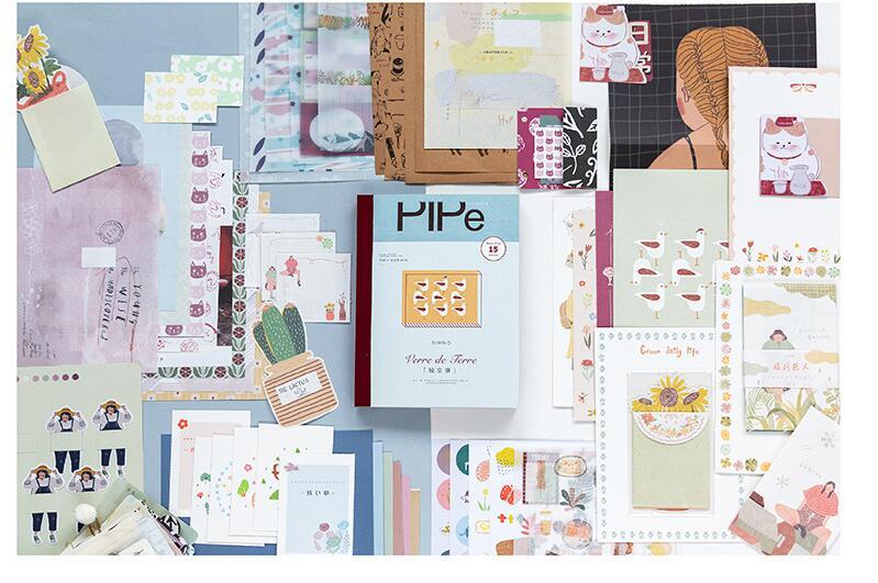 de papel 170mm * 225mm diário decoração suprimentos