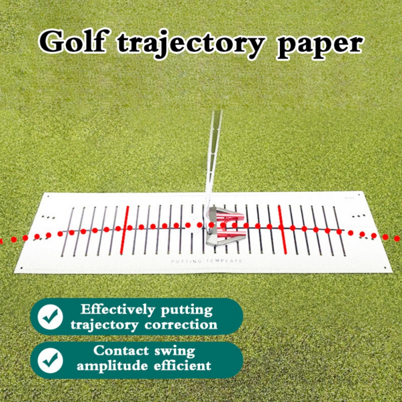 Durable Efficient Golf Putting Practice Track Paper Golf Traning Accessories