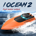 2021New iOCEAN2 Rc Boat 2.4G Remote Control Rechargeable Waterproof Cover Design Anti-collision Protection Design