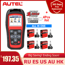Autel TPMS חיישן MX חיישן 2 ב 1 כלים לתיקון צמיגי TPMS חיישן תמיכת תכנות עם TS501 TS508 שווה 433 MHZ + 315MHZ