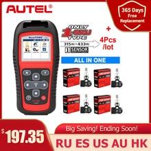 Autel ferramenta de reparo de pneus tpms sensor mx sensor 2 em 1, ferramenta de reparo de pneus tpms com ts501 ts508 igual 433 mhz + 315mhz