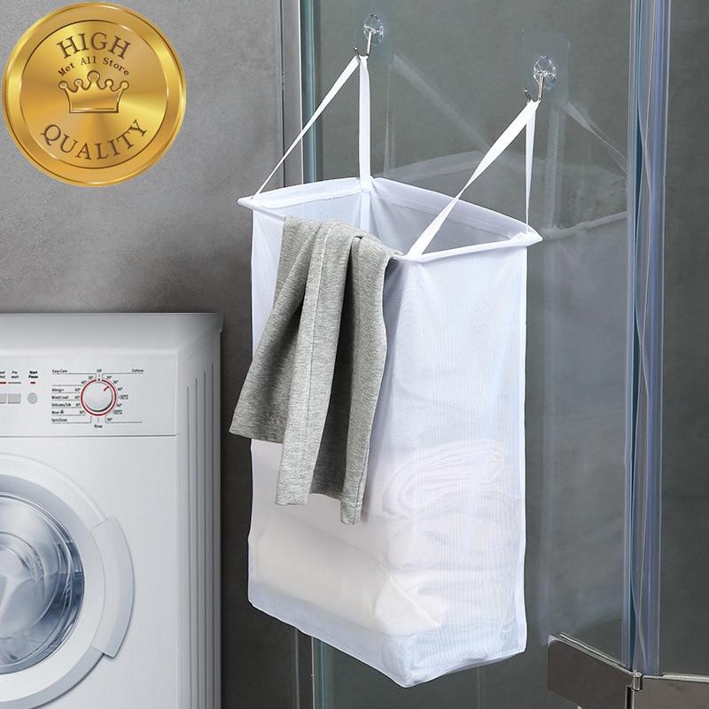 Wall Hanging Laundry Basket Underwear Socks Storage Barrel Clothing Storage Bucket Laundry Organizer Holder Pouch Household
