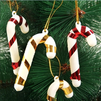 12pcs/lot New Christmas Candy Cane Xmas Tree Hanging Ornaments Home Party Decoration Kids Gift Wholesale image