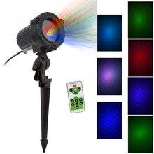 RGB Laser Luci Di Natale Stelle Rosso Verde Blu docce Proiettore Giardino Esterno Impermeabile IP65 Per La Decorazione di Natale con Telecomando