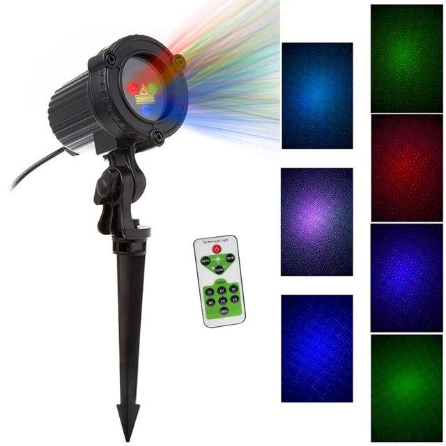 Rgb Laser Kerstverlichting Sterren Rood Groen Blauw Douches Projector Tuin Outdoor Waterdichte IP65 Voor Xmas Decoratie Met Afstandsbediening