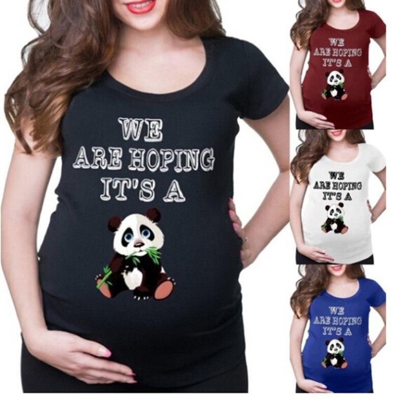 2021 Zomer Tees Vrouwen T-shirts Slanke Moederschap Grappige Brief Tops O-hals Zwangerschap T Shirts Voor Zwangere Vrouwen