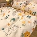 4 stücke Luxus Magie Quilt Abdeckung Einzel/Doppel Größe Bettlaken Herbst Sommer Bett Quilt Abdeckung Plüsch Bettwäsche Bettwäsche set Y103